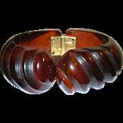 Vintage Bakelite Hinged Bangle