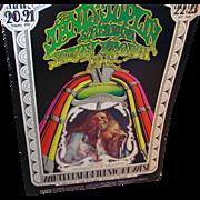 Original Concert Poster Bill Graham Presents in San Francisco Janis Joplin 1969
