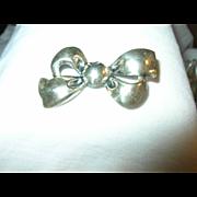 Vintage Sterling Brooch Bow Tie Design 1960's