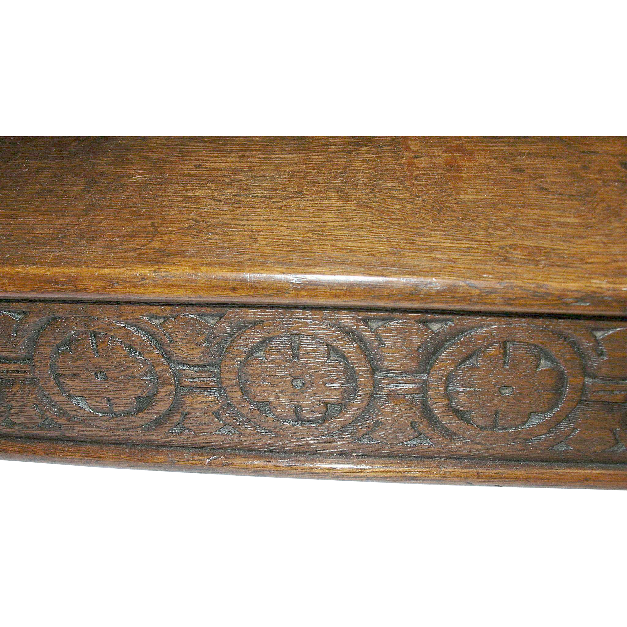Vintage Wooden Document Box Hand Carved Design