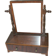 Antique Vanity Mirror Footed