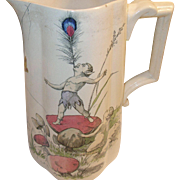 English Pottery Pitcher Fairy Design