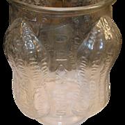 Vintage Planters Peanut  Large Glass Store Container