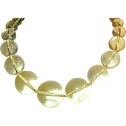 Vintage Bakelite Apple Juice Graduated Bead Necklace