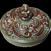 Vintage Bakelite / Brass Compact