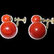 Vintage Bakelite Drop Earrings