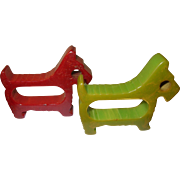 Vintage Bakelite Napkin Rings Scottie Dogs