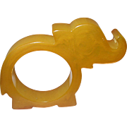 Vintage Bakelite Napkin Ring Elephant