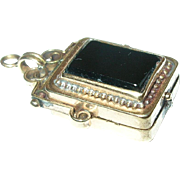 Victorian Gold Filled Watch Fob Locket