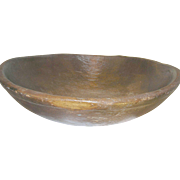 Vintage Wooden Dough Bowl Original Patina