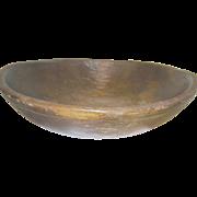 Vintage Wooden Dough Bowl Original Patina