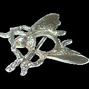 Vintage Sterling Brooch Lg Beetle