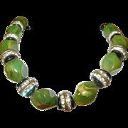 Vintage Bakelite / Rhinestone Link Necklace