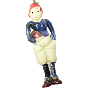 Vintage Early Plastic Pendant Football Player
