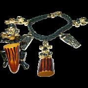 Vintage Bakelite Bracelet / Brooch Set