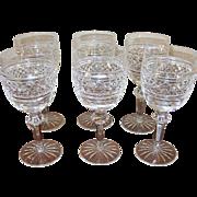 Vintage Early Waterford Crystal Set of 6 Stemware