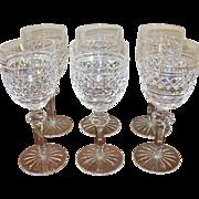 Vintage Waterford Crystal Stemware Set of 6 Wine