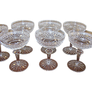 Vintage Early Waterford Crystal Stemware Champagne/Sherbet Set of 7