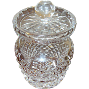Early Waterford Crystal Mustard Pot