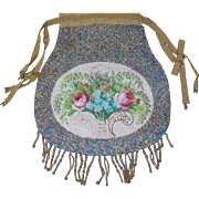 Vintage Micro Bead Bead Handbag 1890's