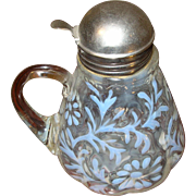 Vintage Opalescent Syrup Pitcher 1890's