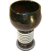 Vintage Art Glass Goblet Applied Design 1930's
