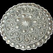 Vintage Sterling Pendant/Brooch Repousse Work
