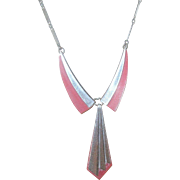 Art Deco Plastic/Chrome Necklace