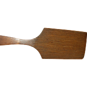 Primitive Wooden Butter Paddle 1850's