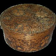Vintage Wooden Box Hand Carved Design