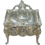 Vintage Jewel Casket Silver Plate