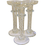 Vintage Crystal Candlesticks Inserted Twist Design
