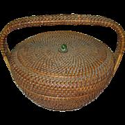 Vintage Woven Basket 1930's