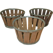 Vintage Shaker Baskets Set 3