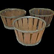 Vintage Shaker Baskets Set 3