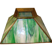 Vintage Lamp Shade Slag Glass