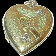 Vintage Gold Filled Locket Heart Shaped