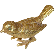 Vintage Florenza Pill Box Bird Design
