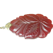 Antique Natural Stone Carved Pendant