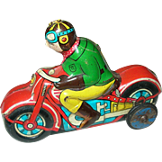 Vintage Marx Tin Litho Toy Motorcycle