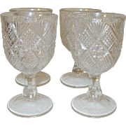 Vintage Cordial Glasses Set of 4 E.A.P.G.