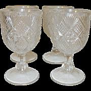 Vintage Cordial Glasses Set of 4 E.A.P.G.