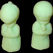 Vintage Fenton Figurines Boy/Girl