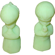 Vintage Fenton Figurines Boy/Girl