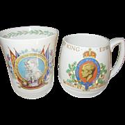 Royal Memorbilia Coronation 2 Cups