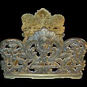 Art Nouveau Bronze Extendable Book Rack