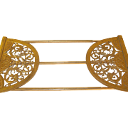 Art Nouveau Extending Book Rack Bronze