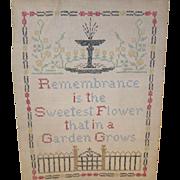Vintage Sampler Cross Stitch