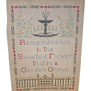 Vintage Sampler Cross Stitch