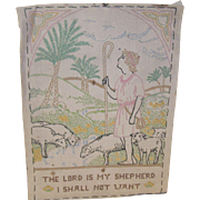 Vintage Sampler Shepherd with Sheep